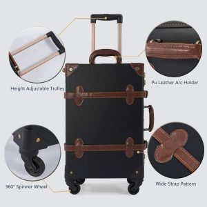 COTRUNKAGE Vintage Suitcase Sets 2 Piece Rolling Luggage
