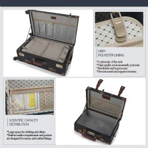 COTRUNKAGE Vintage Suitcase Sets 2 Piece Rolling Luggage with Wheels