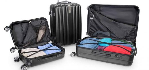 Deco Gear - Travel Elite Series - 3 Piece Hardside Spinner Luggage Set Interior