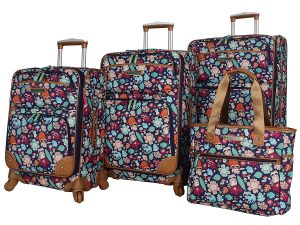 Lily Bloom Luggage Set 4 Piece Suitcase Collection With Spinner Wheels For Woman