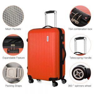 Coomee 3 Piece Expandable Luggage Set