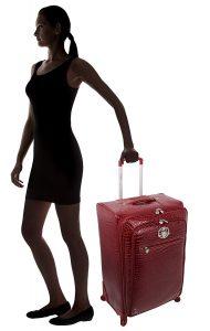 Kathy Van Zeeland Croco PVC Luggage Expandable