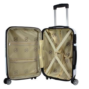 World Traveler Butterfly 2-piece Hardside Carry-on Interior