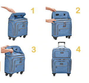 Biaggi Luggage Lift Off Expandable Under-Seater to Carry-on