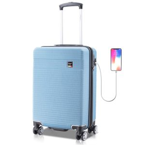 Villago Hardshell Carry On USB port Polycarbonate