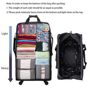 Hanke Expandable Foldable Suitcase Interior