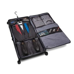 Samsonite Lineate Duet Wheeled Garment Bag Obsidian