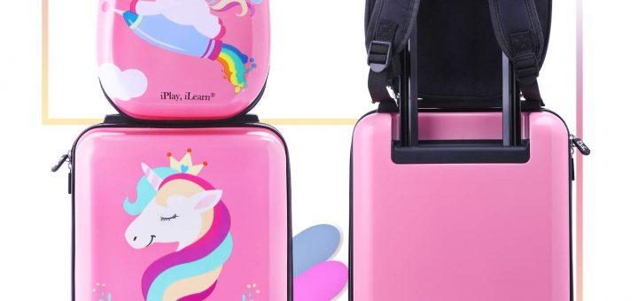 Unicorn Kids Carry On Luggage Set