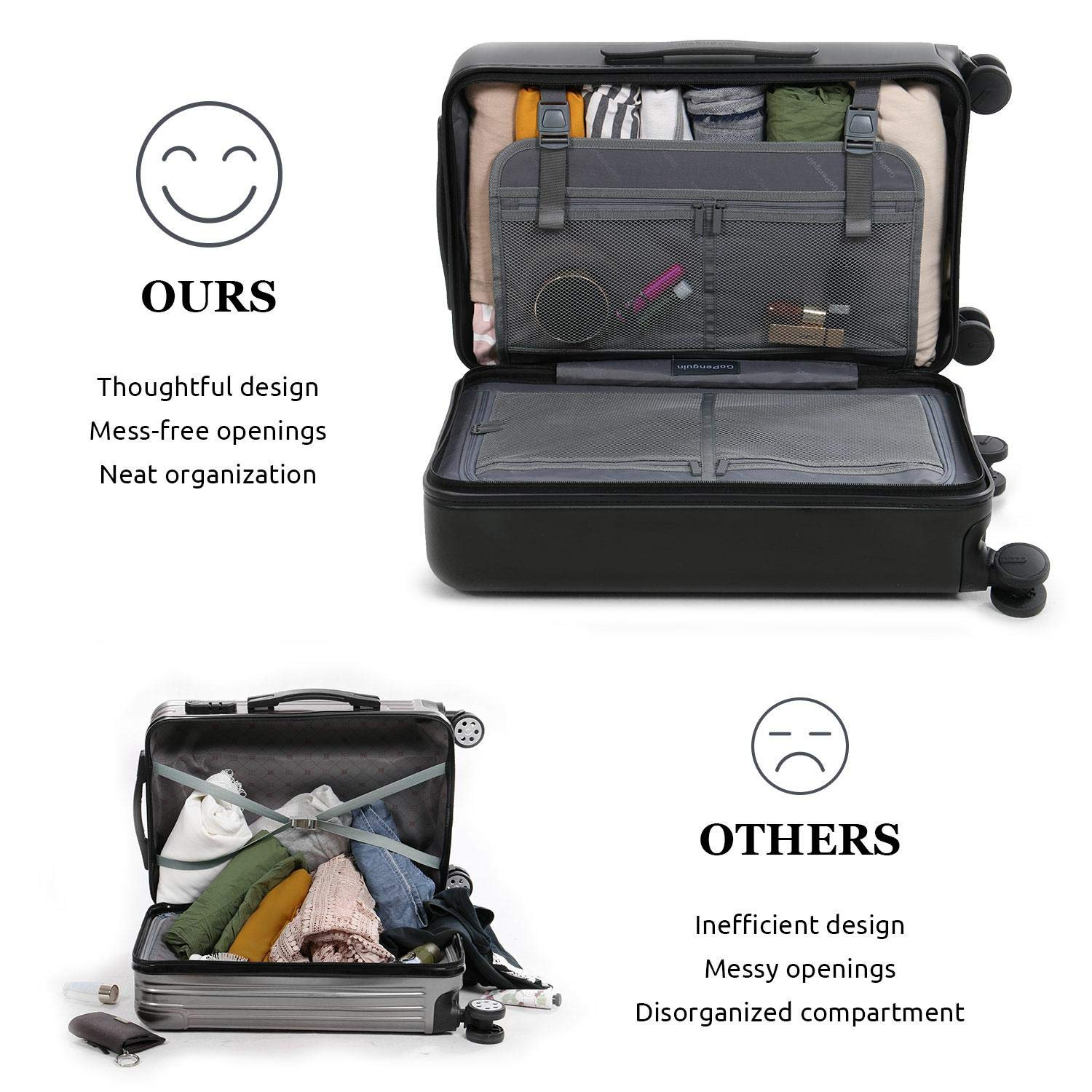 GoPenguin Carry-on Suitcase Interior