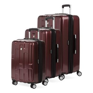 SWISSGEAR 7796 3-Piece Expandable Hardside Rolling Spinner Luggage Set