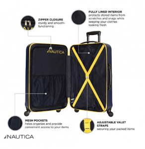 nautica ahoy suitcase set