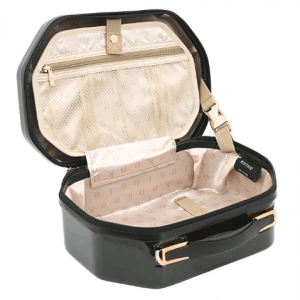 kensie 2 Piece 3D Gemstone Carry-On and Cosmetic Case