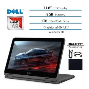 Dell Inspiron 11.6 inch Touchscreen 360 Convertible 2 in 1 Laptop