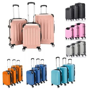 Eubell 3 Piece Set Hardshell ABS Luggage Set
