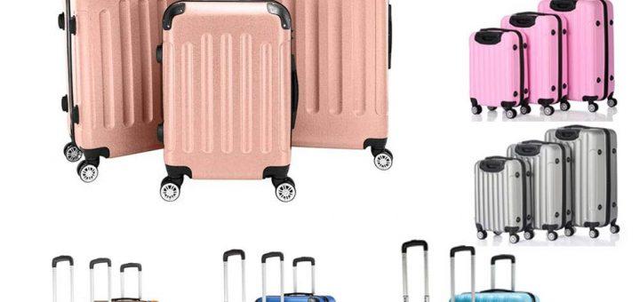 Eubell 3 Piece Set Hardshell ABS Luggage Set