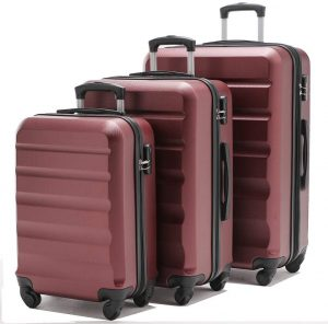VIHEEVA Anti-scratch Hardside Spinner Luggage Set