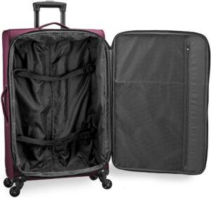 US Traveler Anzio Softside Expandable Suitcase Interior