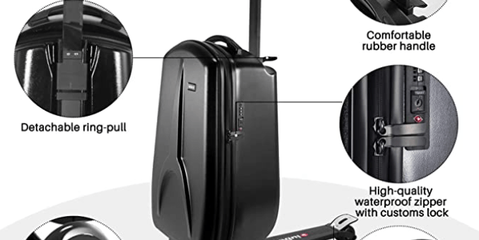 iubest Scooter Luggage for Kids- Adult Scooter Carry on Suitcase