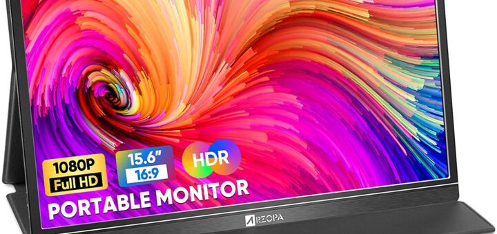 Arzopa Portable Monitor, 15.6'' FHD HDR